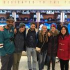 Teja, Gabe, Marc, Kellie, Katie and Jing Attend a Shark's Game in San Jose, CA.