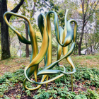 Jane Richardson, a renowned structural biologist and biochemist from Duke, is famous for developing the ribbon diagram, which is a widely-used method for displaying 3D structures of proteins; it was reproduced as a sculpture at Cold Spring Harbor.