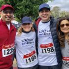 Dr. Mahajan poses with Dr. Mruthyunjaya, Stanford Ophthalmology Lookin' for a Cure 5K event organizer