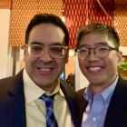 Vinit Mahajan M.D., Ph.D. with Gained in Translation Symposium co-organizer Michael Chang M.D.