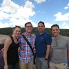 Katie, who received the Postdoc Research Award at the FASEB 2016 Calpain Meeting, visits Yellowstone National Park with Gabe, Vinu and Alex. June 2017.