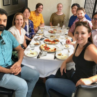 Post Doctoral Fellow Kathryn Wert (front right) at Mahajan Lab lunch celebrating her new position as an Assistant Professor of Ophthalmology and Molecular Biology at the University of Texas Southwestern Medical Center.